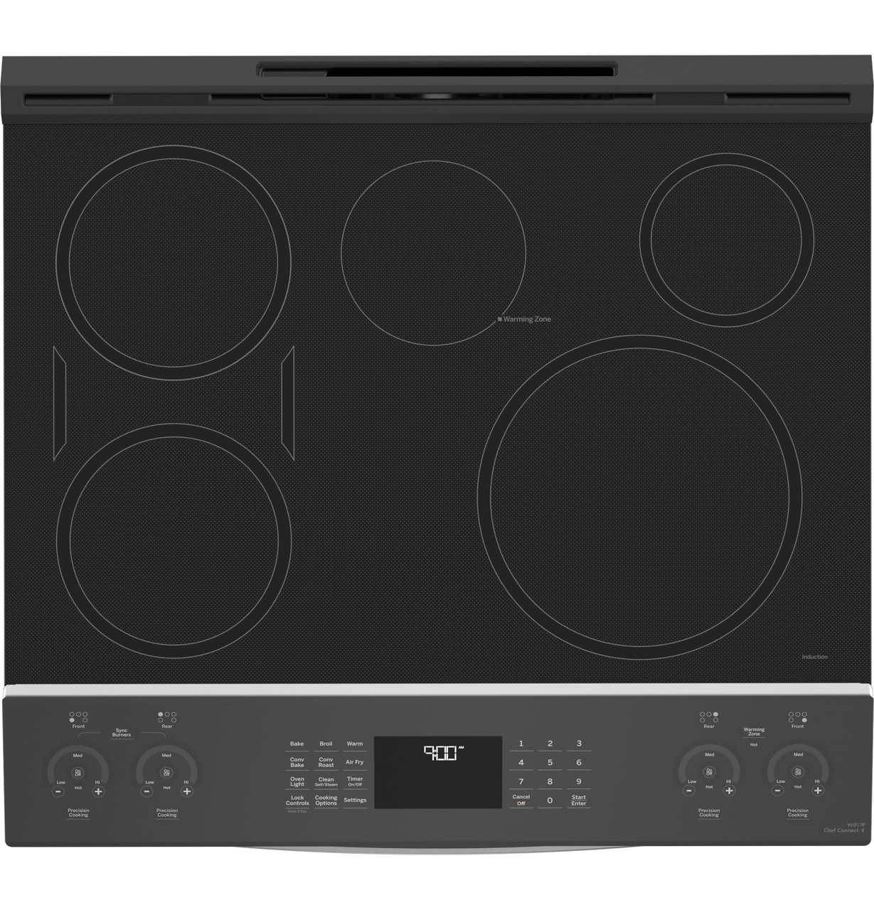 "GE Profile 30"" Electric Range PHS930YPFS Induction Cooktops"